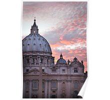 Vatican Sunset Poster
