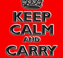 Keep Calm & Carry On, British, UK, Britain, Blighty, Chisel on Red by TOM HILL - Designer