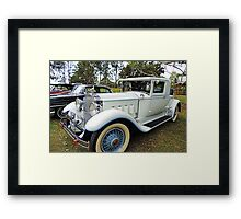 1930's Packard Roadster - White with Blue Trim Framed Print