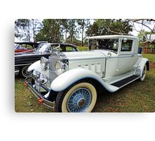 1930's Packard Roadster - White with Blue Trim Canvas Print