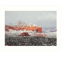 Winter Storm Sedona Arizona Red Rocks Art Print