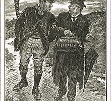 Socialism & Old Liberalism Punch 1909 by artfromthepast