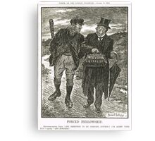 Socialism & Old Liberalism Punch 1909 Canvas Print