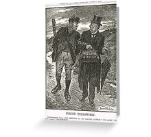 Socialism & Old Liberalism Punch 1909 Greeting Card
