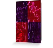 Mexcian cacti purple Greeting Card