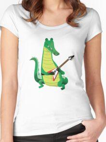 Crocodile Rock Women's Fitted Scoop T-Shirt