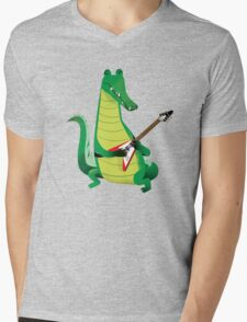 Crocodile Rock Mens V-Neck T-Shirt