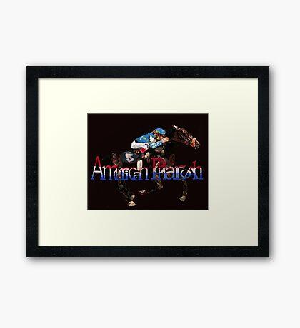 American Pharoah Framed Print