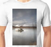 Frozen mountain landscape Unisex T-Shirt