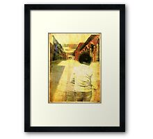 Streets of Dirt 2 Framed Print