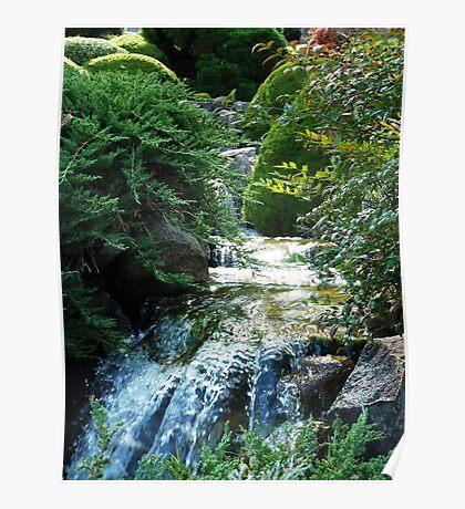 Symbolic Mountain Waterfall, Cowra NSW Poster
