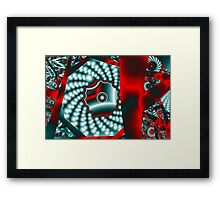 Ribbons and Blobs Framed Print