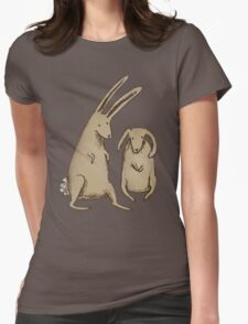 Two Bunnies Womens Fitted T-Shirt
