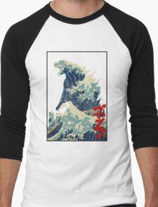 Godzilla Kanagawa wave Men's Baseball ¾ T-Shirt