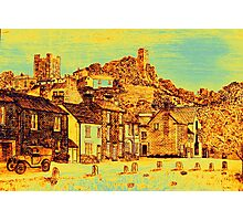 Richmond from the Green in yellow/gold Photographic Print