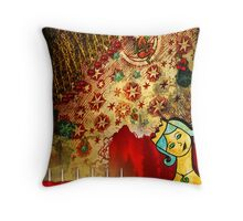 Light The Red Candles Throw Pillow