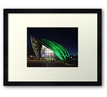 Glasgow Clyde Auditorium at Night Framed Print