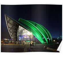 Glasgow Clyde Auditorium at Night Poster