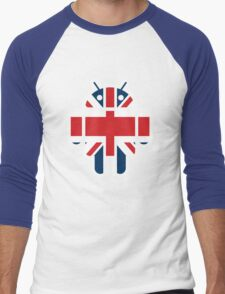 Britbot Men's Baseball ¾ T-Shirt