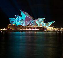 Sydney Opera House.....Vivid Sydney by Fiona Kersey