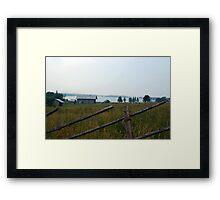 Rural landscape Framed Print