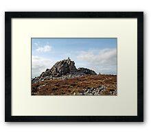 Manstone Rock, Stipertones Framed Print