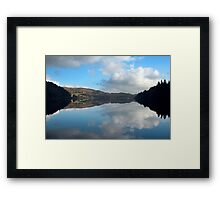 The Mirror in the Lake Framed Print