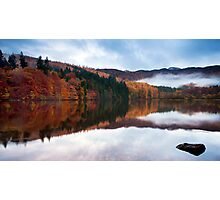 Autumn Reflections at Loch Faskally Photographic Print