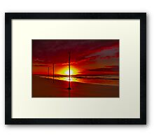 """Three on a String"" Framed Print"
