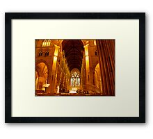 St Mary's Cathedral Interior Framed Print