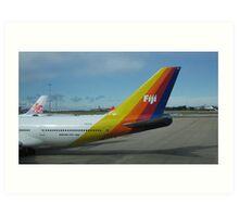 Colourful Fiji Airliner. Art Print