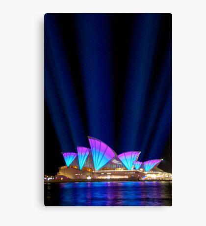 Sydney Vivid Lightshow Canvas Print