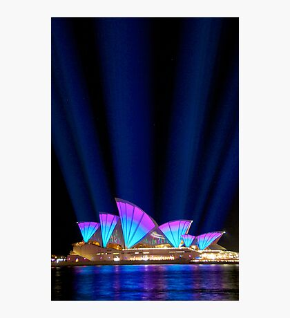 Sydney Vivid Lightshow Photographic Print