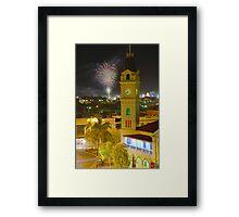 Bundaberg Post Office Clock Tower Framed Print