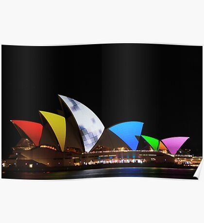 Colourful Sails Poster
