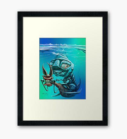 Ice Rider Framed Print