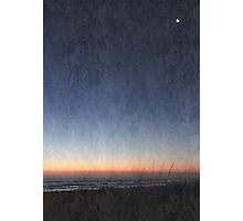 South Padre Early Morning Moon Photographic Print