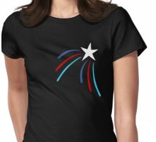 White Shooting Star Womens Fitted T-Shirt