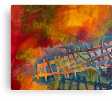 Colored Fences Canvas Print