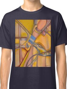 Yellow Hues Original Abstract Acrylic on Canvas Classic T-Shirt