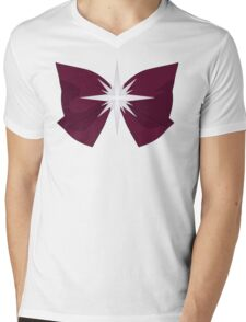 Sailor Saturn Bow Mens V-Neck T-Shirt
