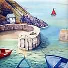 Porthgain Harbour, Pembrokeshire, Wales. by Helen Lush