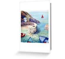 Porthgain Harbour, Pembrokeshire, Wales. Greeting Card