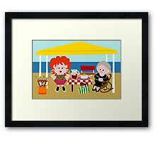 Antonia & Omaíta On The Beach Framed Print