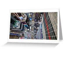 Manhattan in motion - bird's eye Times Square Greeting Card