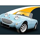 Austin Healey ' Frog Eye' Sprite Illustration by Autographics