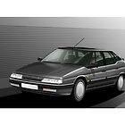 Citroen XM Illustration by Autographics
