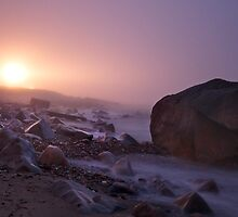 Light house in the fog - Providence by mindrelic