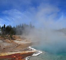 Yellowstone Park Geyser by Frank Romeo