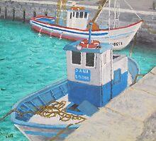 Fishing Boats - Tarifa Spain by artofjackmck